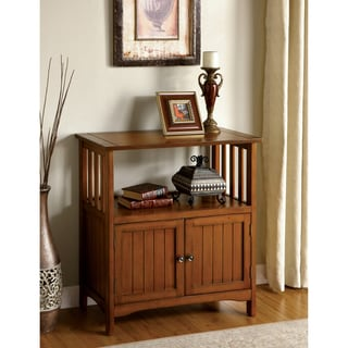 Furniture of America Sebastian Antique Oak Double-door Side Cabinet