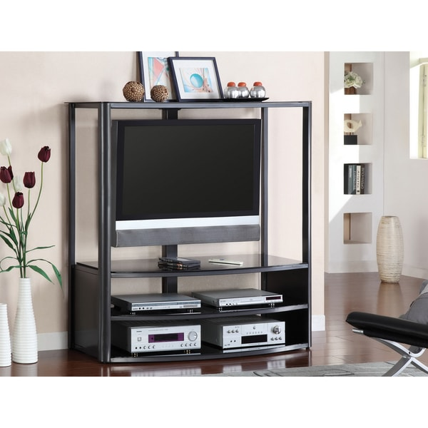 Furniture of America Kartel Black TV Console with Mount Bracket