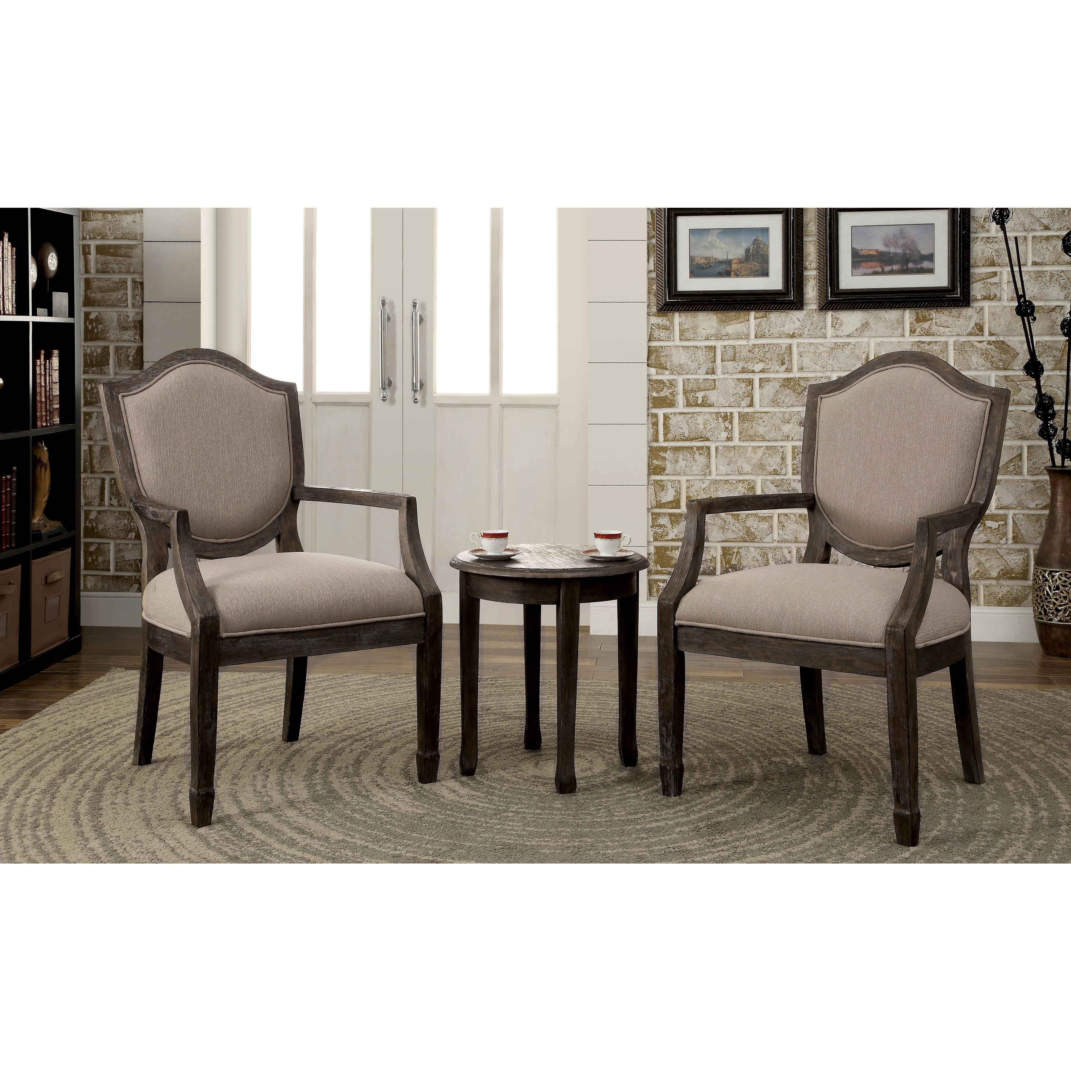 Furniture of america caroline 3 piece living room for Furniture set deals