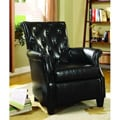 Carter Black Bicast Leather Accent Chair