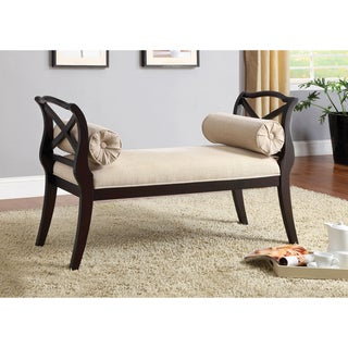 Furniture of America Bella Elegance Espresso Sette Bench