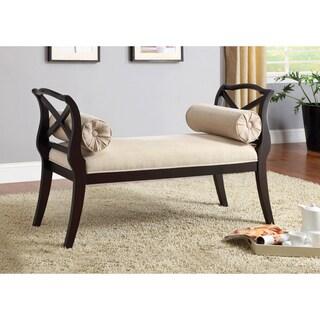 Furniture of America Bella Elegance Espresso Sette Bench