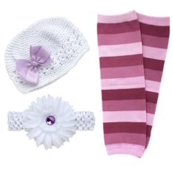 Headbandz White/ Lavender 5-piece Baby Accessory Pack