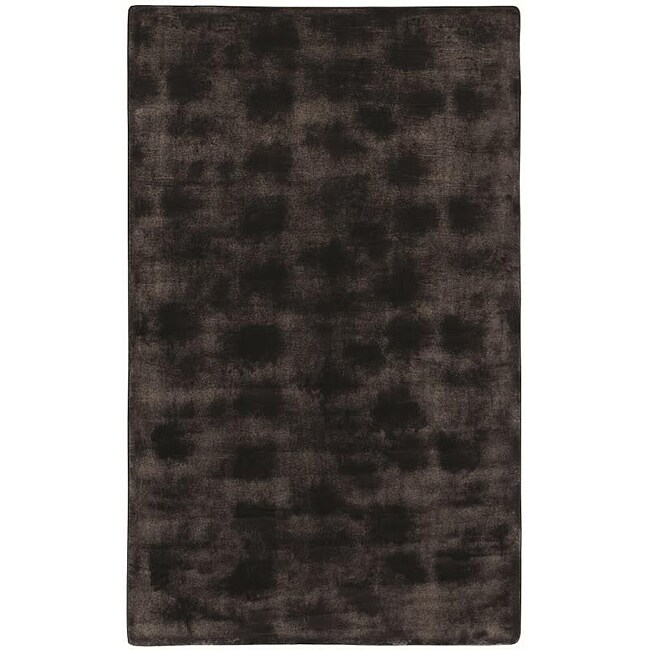 Brown/Black Animal Faux-Fur Area Rug (5'6 x 8'6)