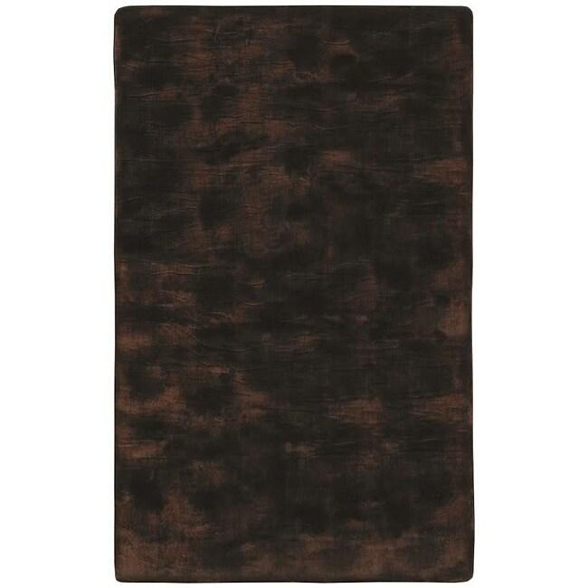 Faux Fur Brown/ Black Animal Rug (5'6 x 8'6)