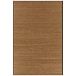 Hand-woven Brown Bamboo Rug (8' x 10')