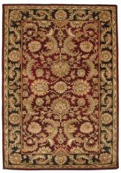Hand-tufted Rano Red Oriental Wool Rug (5' x 8')