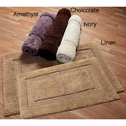 Nuevo Collection Cotton Non-skid Latex Backing Bath Rugs (Set of 2)