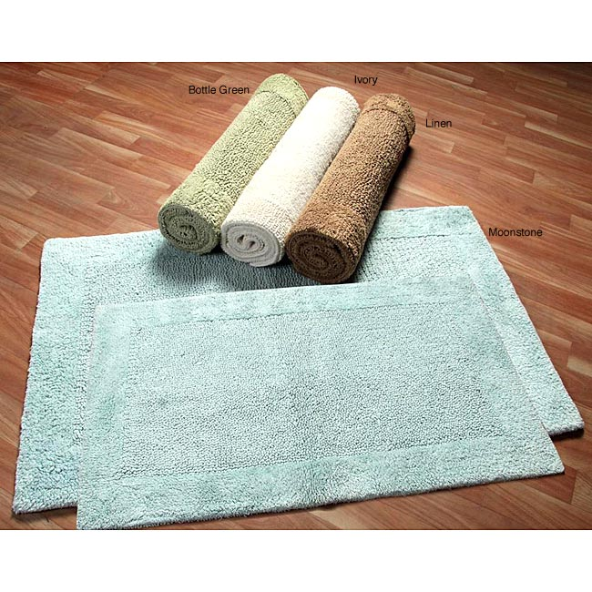 Superior Collection Luxurious Cotton Non Skid 2 Piece Bath Rug Set