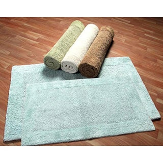 Luxe Collection Cotton 2-piece Bath Rug Set - includes BONUS step out mat