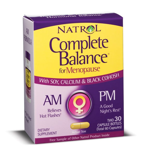 Natrol Complete Balance for Menopause AM/PM Two-30 ct. Formulas