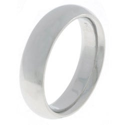 14k White Gold Men's 5-mm Comfort Fit Wedding Band