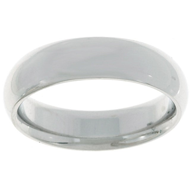 10k White Gold Men's Comfort Fit 5-mm Wedding Band
