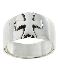 Tressa Sterling Silver Antiqued Cross Ring