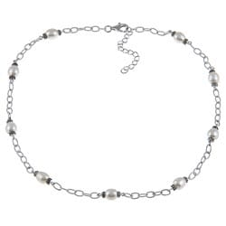 La Preciosa Sterling Silver Freshwater Pearl Necklace (6-8 mm)