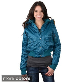 Greenlander Women's Juniors Faux Fur Trimmed Hoodie Jacket