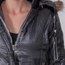 Greenlander Juniors Plaid Faux Fur Trimmed Hoodie Bomber