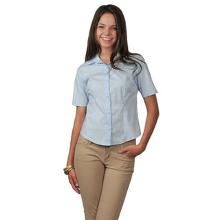 Journee Collection Women's Short-sleeve Fitted Blouse