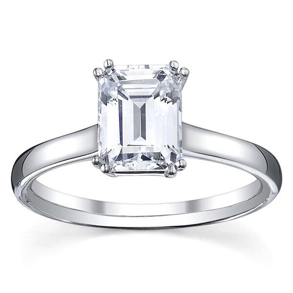 14k White Gold 1/2ct TDW Diamond Solitaire Engagement Ring (G, VS1-VS2)