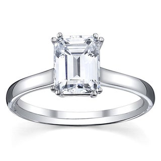 14k White Gold 1/2ct TDW Diamond Solitaire Engagement Ring (G, VS1-VS2)
