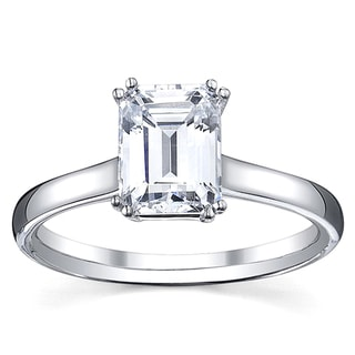 14k White Gold 1ct TDW Diamond Solitaire Solitaire Engagement Ring (G, VS1-VS2)