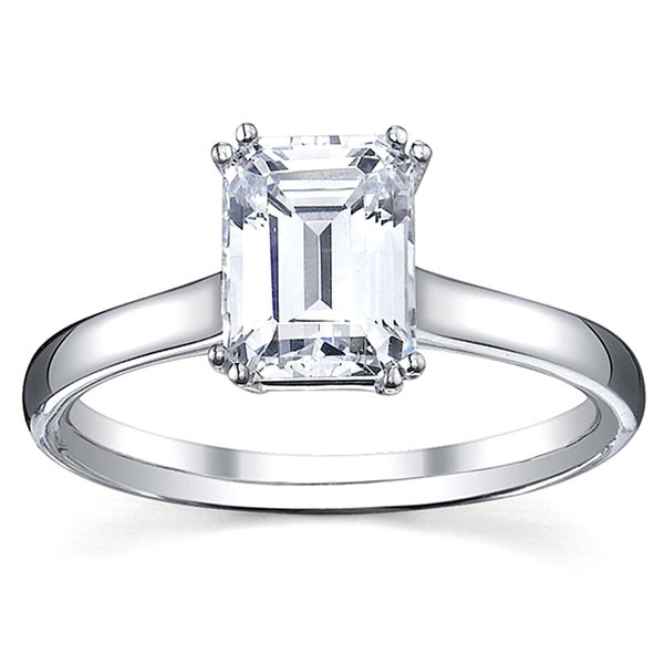 14k White Gold 1ct TDW Diamond Solitaire Engagement Ring (I, SI1)