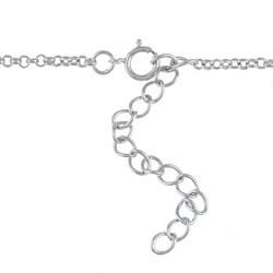 La Preciosa Sterling Silver Faux Pearl and Cubic Zirconia Necklace