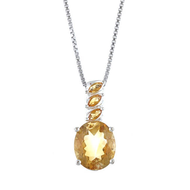 Kabella Sterling Silver Citrine Necklace