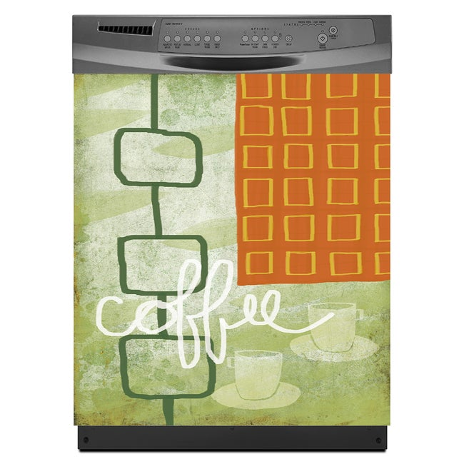 Appliance Art Coffee House Dishwasher Cover