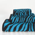 Aqua Zebra 3-piece Cotton Towel Set