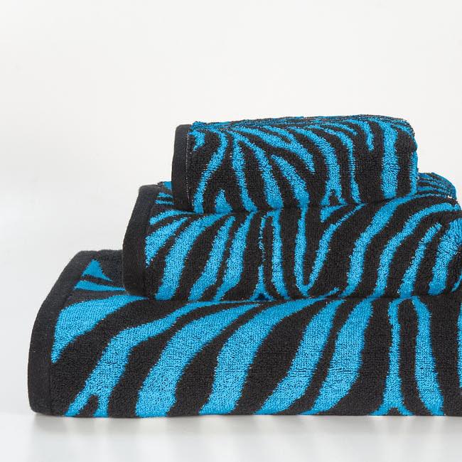 Aqua Zebra Cotton 3-piece Towel Set