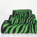 Lime Zebra 3-piece Cotton Towel Set