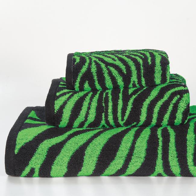Lime Zebra Cotton 3-piece Towel Set