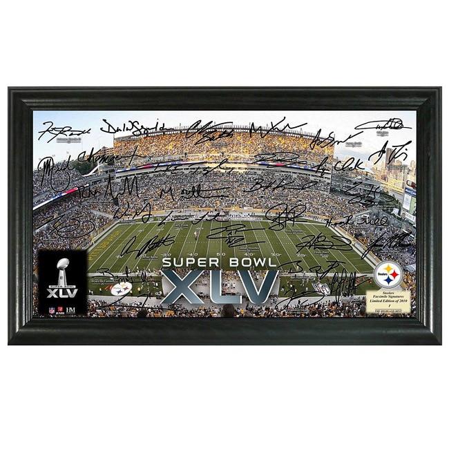 Pittsburgh Steelers Super Bowl XLV Replica Signature Framed Photo