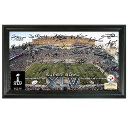 Pittsburgh Steelers Super Bowl XLV Replica Signature Framed Photo