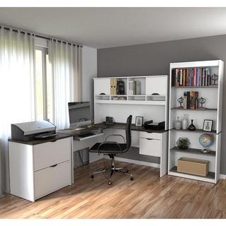 Bestar Innova L-shaped Workstation Desk Set