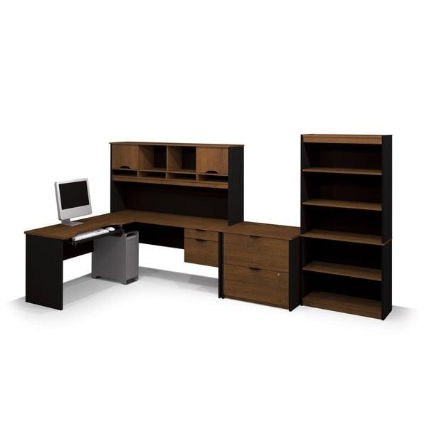 Bestar Innova L Shaped Workstation Set