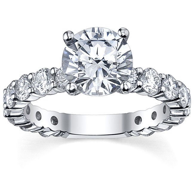 14k White Gold 1 5/8ct TDW Diamond Engagement Ring (G-H, SI1-SI2)