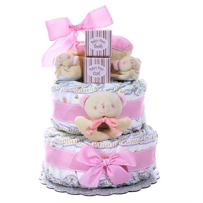 Girl's Two-tier Diaper Cake