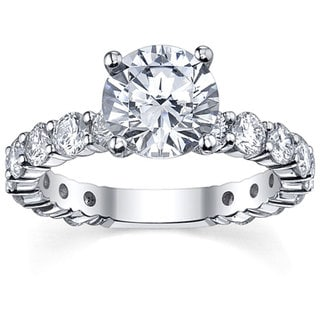 18k White Gold 3 1/6ct TDW Diamond Engagement Ring (G-H, SI1-SI2)