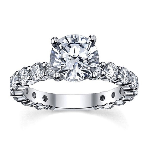 14k White Gold 3 1/6ct TDW Round Diamond Ring (G-H, SI1-SI2)
