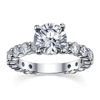14k White Gold 3 1/6ct TDW Diamond Engagement Ring (G-H, SI1-SI2)