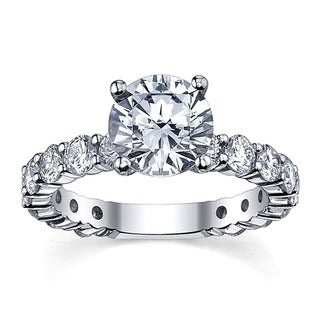 14k White Gold 4 5/8ct TDW Diamond Engagement Ring (G-H, SI1-SI2)
