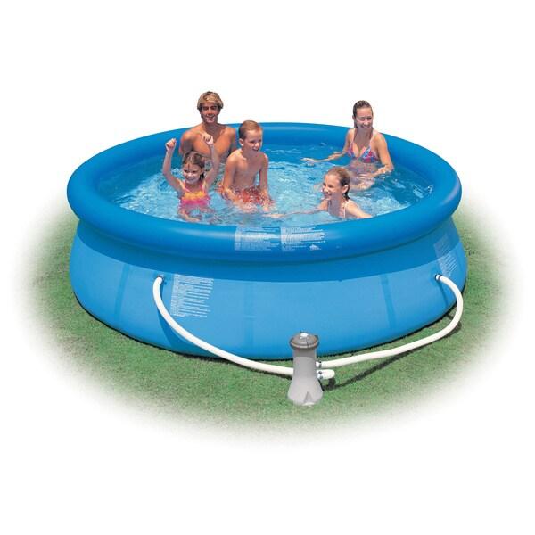 Easy set pool set 10 39 x30 13423144 - Intex swim center family lounge pool blue ...