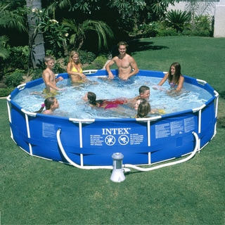 "Metal Frame Pool Set (12'x30"")"