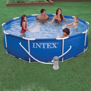 Above ground pools overstock shopping the best prices for Quick up pool 120 hoch