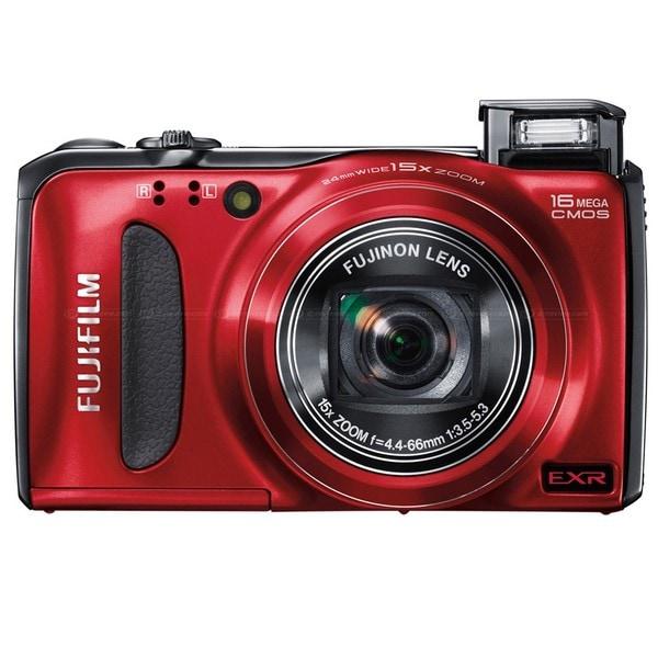 Fujifilm FinePix F500EXR 16MP Red Digital Camera