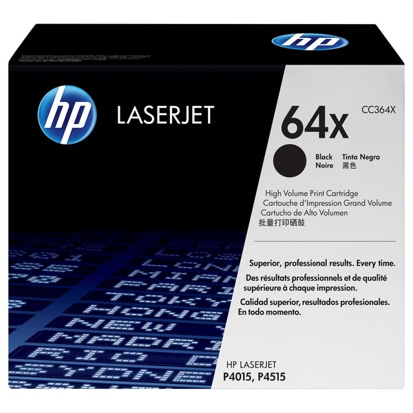 HP CC364XC High Yield Black Contract Original LaserJet Toner Cartridg