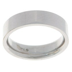 10k White Gold Women's Flat 5-mm Wedding Band
