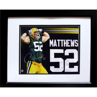 Green Bay Clay Matthews Autographed Deluxe Photo Frame (20x24)